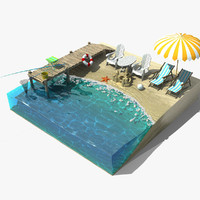 3d model sea scene