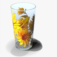 3d glass cup model