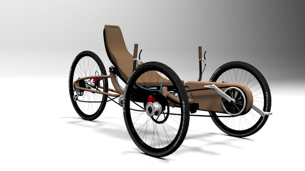 3d model cycle bicycle recumbent
