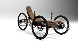 3d model cycle bicycle recumbent