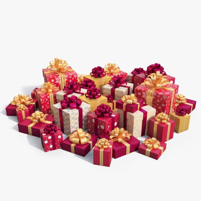 christmas boxes 3d max