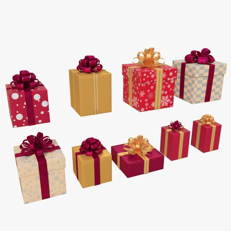 3d christmas boxes