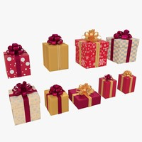 3d christmas boxes