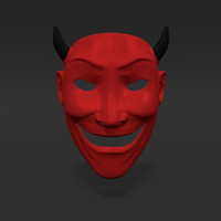 3d satan mask model