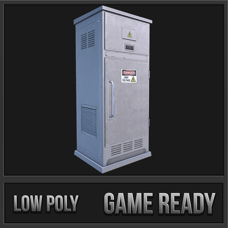 utility box 04 3d model