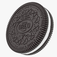 3d model realistic oreo cookie