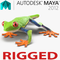 Red Eyed Tree Frog Rigged for Maya