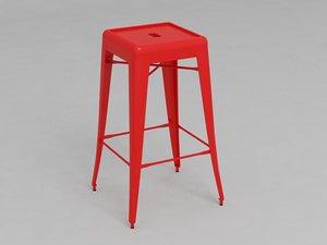 tolix bar stool 3d max