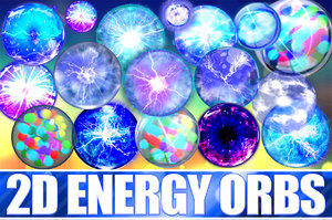 Animated 2D Energy Orb