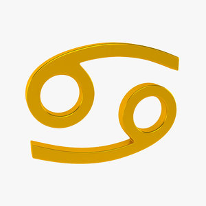 zodiac cancer sign 3d model