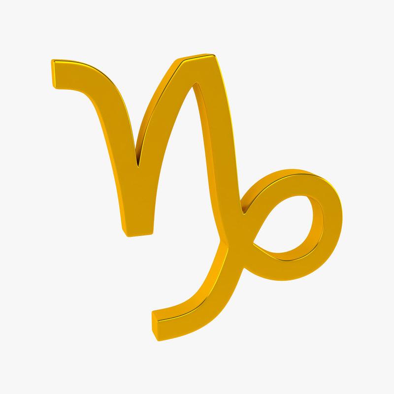 3d model zodiac capricorn sign