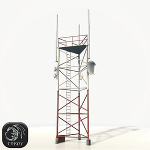 radio tower 3d model