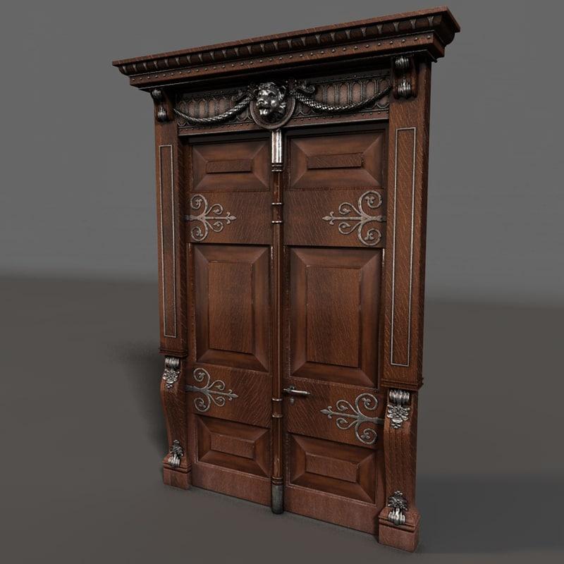 3d antique door