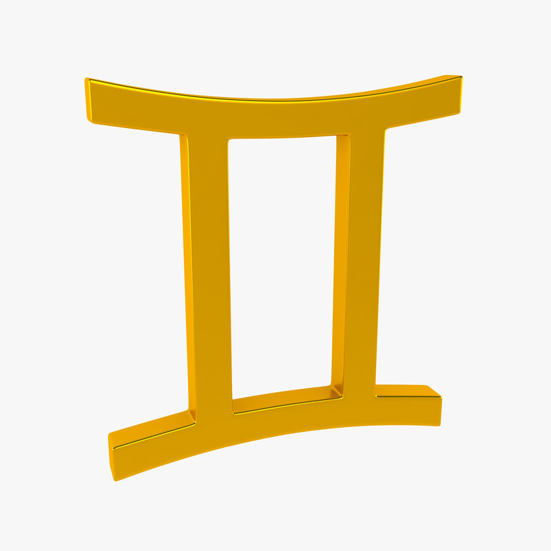 zodiac gemini sign 3d model