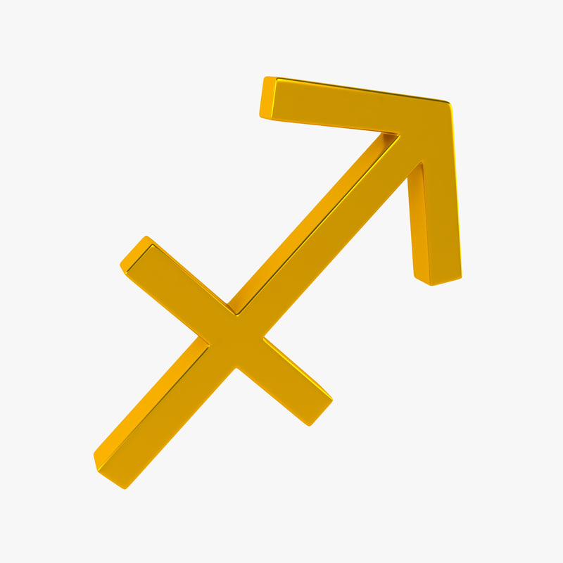 3d model zodiac sagittarius sign