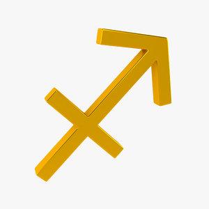 3d model zodiac sagittarius sign