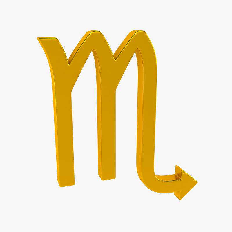 3d zodiac scorpio sign model