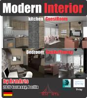 3d modern apartment interior rooms