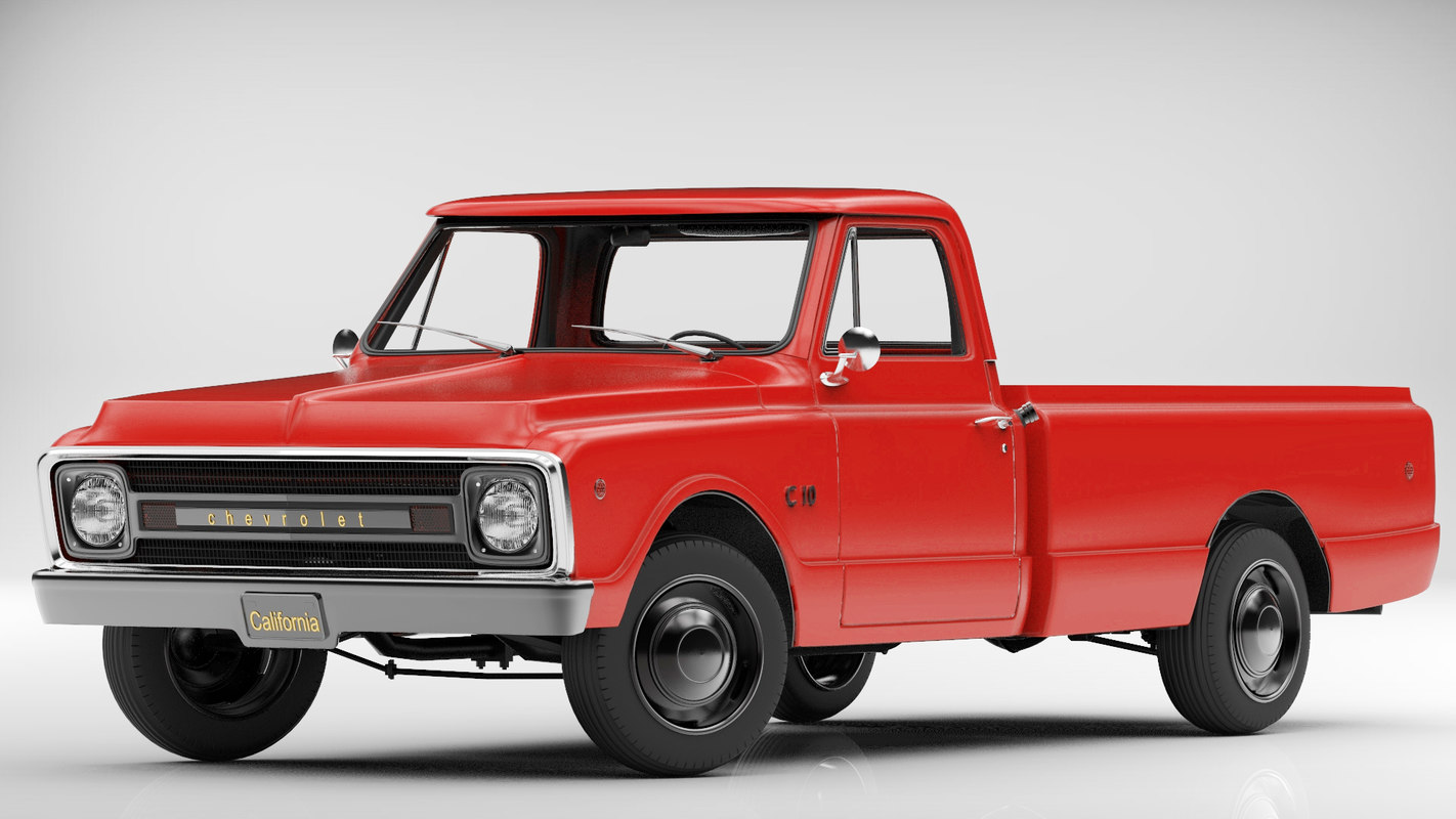 3d model chevrolet c10 pickup. Black Bedroom Furniture Sets. Home Design Ideas