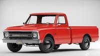 3d model chevrolet c10 pickup