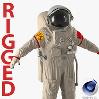 Chinese Space Suit Feitian Rigged for Cinema 4D