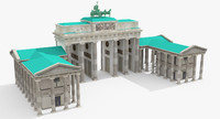 brandenburg gate 3d 3ds