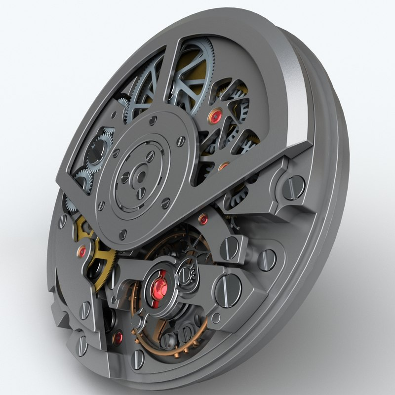 watch mechanism 3d 3ds