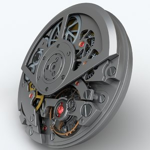 watch mechanism 3d 3ds