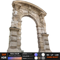 old city gate 16k 3d max