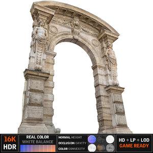 old city gate 16k 3d max