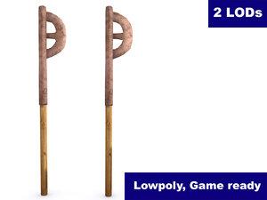 ancient bronze axe polys 3d 3ds