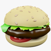 max cartoon hamburger