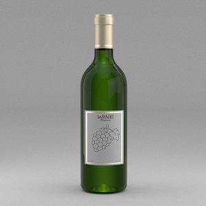 bordolese bottle glass 3d model