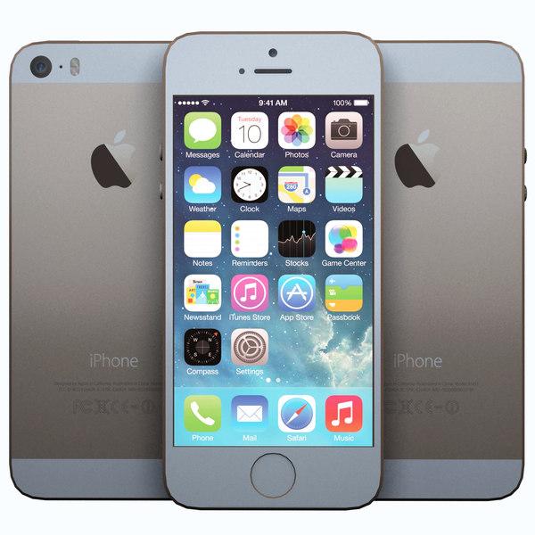 realistic apple iphone 5s 3d model