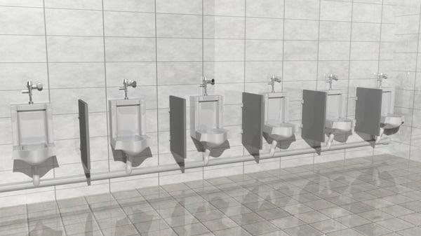 mensroom urinal 3d model