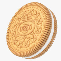 realistic oreo cookie 3d model