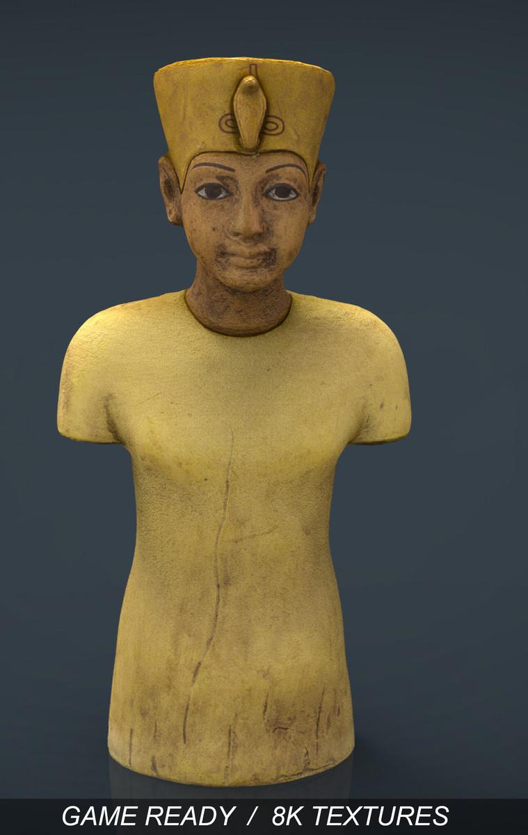 tutankhamun king 3d obj