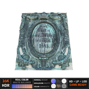 3d model crest emblem 8k