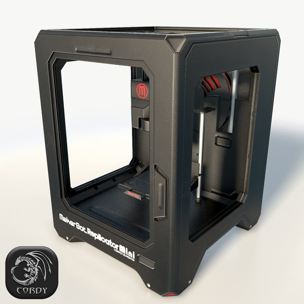 maker bot mini printer 3d model