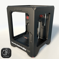 Makerbot Mini 3D printer low poly