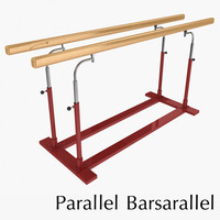 parallel bars 3d dxf