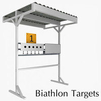 3d biathlon targets model