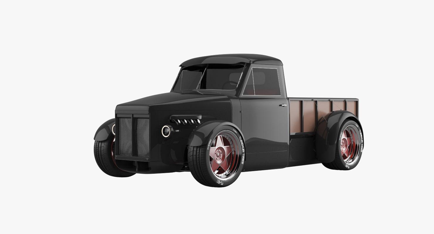 custom pickup g51 3d model