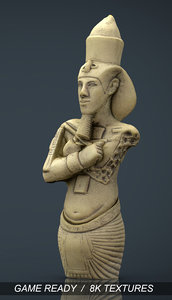 akhenaten pharaohs ancient 3d max