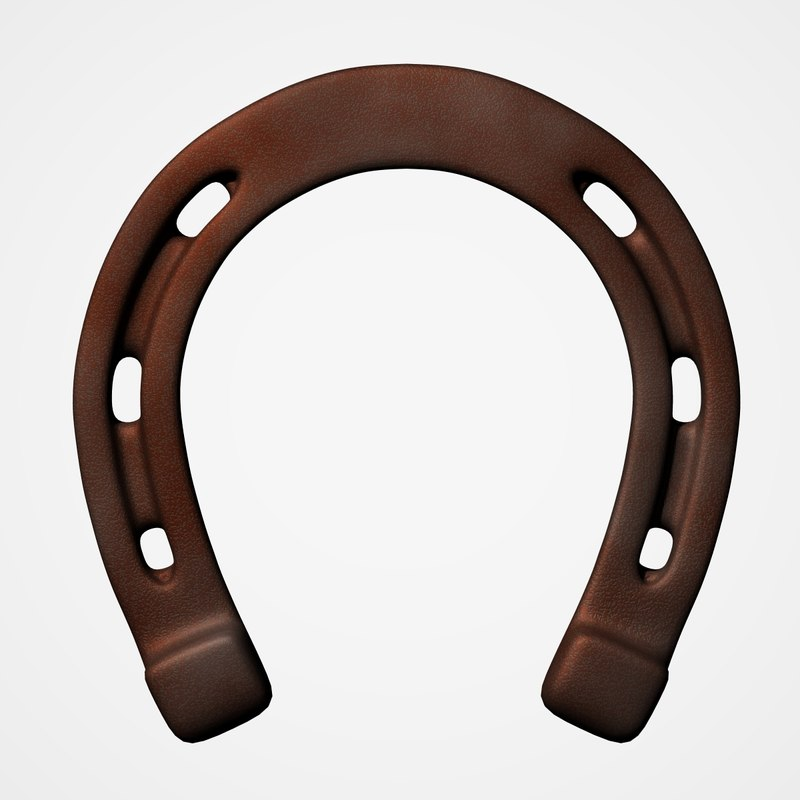3d old horseshoe model