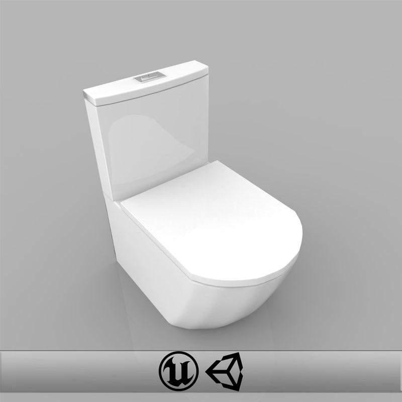 3d x toilet bowl