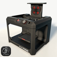 3d maker bot replicator printer model