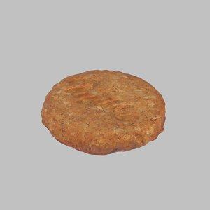 3d biscuit milka model