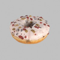 3d model donut chocolate christmas