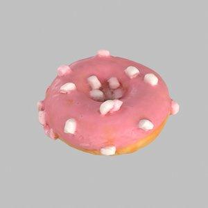 3d donut marshmallow
